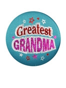 Greatest Grandma Satin Button