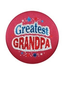 Greatest Grandpa Satin Button