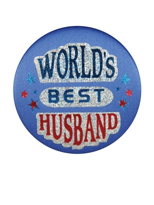World's Best Husband Satin Button
