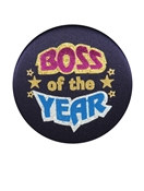 Boss Of the Year Satin Button