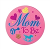 Pink Mom To Be Satin Button