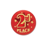 2nd Place Satin Button