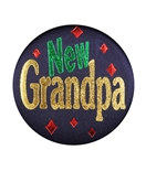 New Grandpa Satin Button