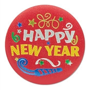 Happy New Year Satin Button