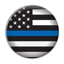 Show your support for those who serve and protect with this 2 inch diameter Law Enforcement Button.  Includes standard safety pin mount.  Please Note: Not intended for children under age 14.