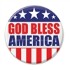 "Show the world know your pride in your country with these classic ""God Bless America"" Buttons! These patriotic pins are a fun and colorful way to show your appreciation for America