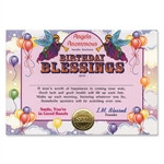 Birthday Blessings Award Certificates