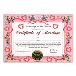Certificate of Marriage Award Certificates
