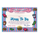 Mom To Be Award Certificates