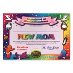 New Mom Award Certificates