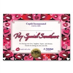 Very Special Sweetheart Award Certificates