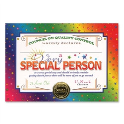 Very Special Person Award Certificates