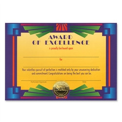 Award Of Excellence Award Certificates
