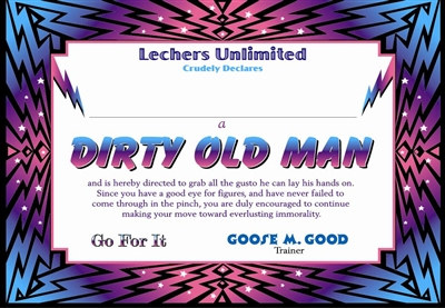 Dirty Old Man Certificate