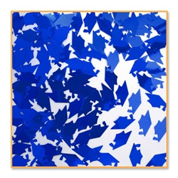 Grad Cap Royal Blue Confetti
