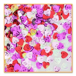 Embossed Hearts Confetti