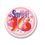 Sweet Sixteen Flashing Button