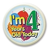 I'm 4 Years Old Today Flashing Button