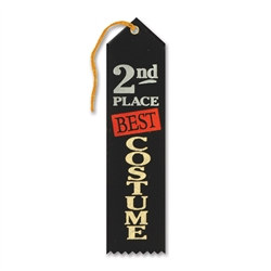 Best Costume 2nd Place Halloween Ribbon