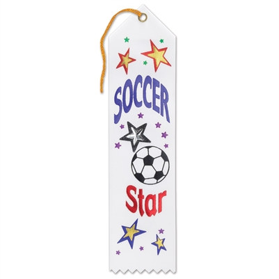 Soccer Star Jeweled Ribbon