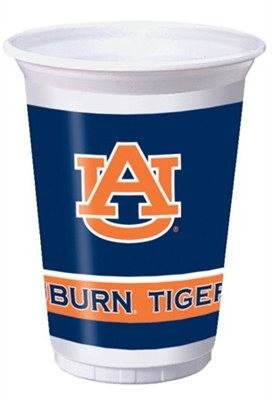 University of Auburn Plastic Cups (8/pkg)