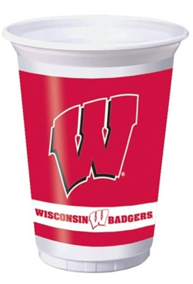 University of Wisconsin Plastic Cups (8/pkg)