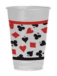 Card Night Plastic Cups (8/pkg)