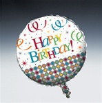 Birthday Celebration Metallic Mylar Balloon