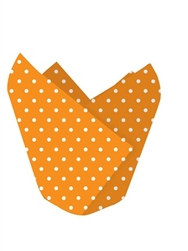 Orange Polka Dotted Baking Cups (12/pkg)