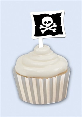 Pirate Cupcake Wrappers with Picks (12/pkg)