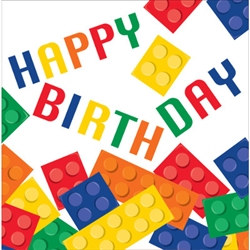 Block Party Happy Birthday Luncheon Napkins