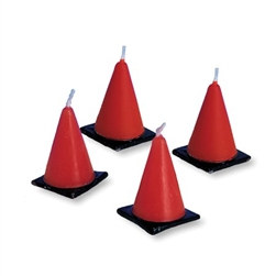 Construction Cones Candles (6/pkg)