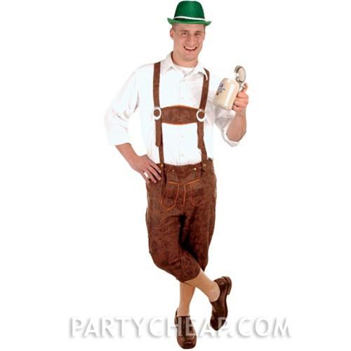 Costume Lederhosen - Large  sc 1 st  Party Cheap & Costume Lederhosen - Large