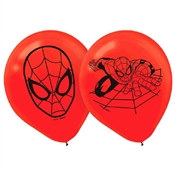 Spider-Man Printed Latex Balloons (6/pkg)