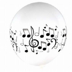 Musical Note Latex Balloon