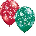 Assorted Christmas Latex Balloons