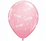 It's A Girl Latex Balloon