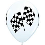 Racing Flags Latex Balloon