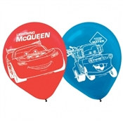 Cars Latex Balloons (6/pkg)