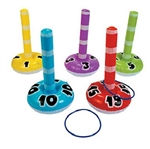 The classic Inflatable Ring Toss Game is fun for all ages. Inflate each numbered target, and then players toss the included rings to see who can accumulate the most points. Each set includes 5 targets and 5 rings.  No returns.