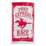 The Pony Express Potato Sacks (6 per package) are perfect for that fun-filled hopping race to the finish line. Each polypropylene sack is printed with red accents and the phrase Pony Express Race. Sacks measure 23.5 by 40 inches.  Six sacks per package.