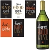 "Wicked Bottle labels are fun Halloween sticker labels for your favorite wine bottles. Includes ""Happy Hallo Wine"", ""Drink Up Witches"", ""Witches Potion"", ""I'm a Bad Witch"", and ""I'm a Good Witch"". 5 labels per package. Labels measure 3.25 by 5.25 inches."