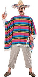Adult Mexican Serape and Hat Costume