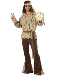 Adult Male Hippie Costume