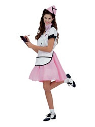Adult 50's Soda Pop Girl Costume