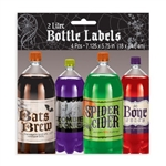 Add some Halloween spirit to your favorite party beverage containers. Four self-adhesive labels printed with fun Halloween themed phrases. Perfectly sized for 2 liter soda bottles! One time use. Measures approximately 7 inches wide and 5.75 inches tall.