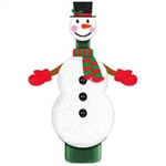 The 2-piece felt snowman dressed in mittens, scarf and top hat will adorn your favorite bottle of wine and transform it into a fantastically fun holiday gift. Simply slide the felt body over the neck of a bottle, and place the head over the top. 1 per pkg