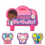 Doc McStuffins Birthday Candle Set