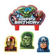 Avengers Birthday Candle Set (4/pkg)