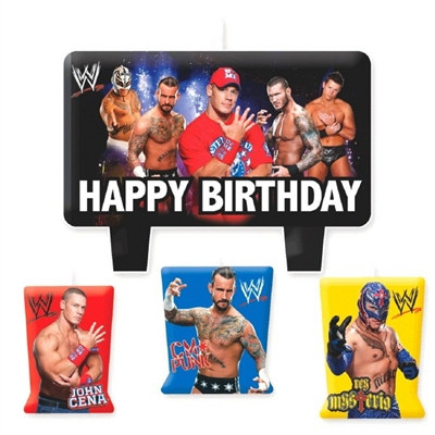 WWE Birthday Candle Set (4/pkg)